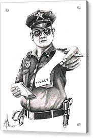 The Law Acrylic Print by Murphy Elliott