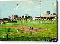 The Lawrence Baseball Stadium In Wichita Ks Around 1920 Acrylic Print by Dwight Goss