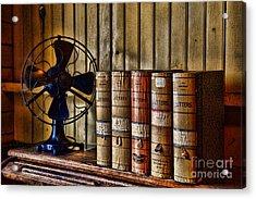 The Lawyers Desk Acrylic Print by Paul Ward