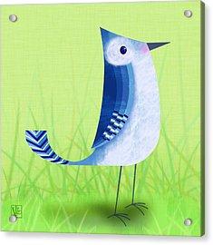 The Letter Blue J Acrylic Print by Valerie Drake Lesiak