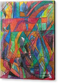 The Letter Dalet 2 Acrylic Print by David Baruch Wolk