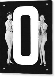 The Letter o  And Two Women Acrylic Print by Underwood Archives