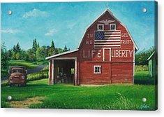 The Liberty Barn Acrylic Print by Craig Shillam
