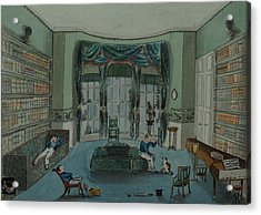 The Library, C.1820, Battersea Rise Acrylic Print by English School