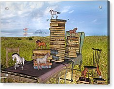 The Library Your Local Treasure Acrylic Print by Betsy C Knapp