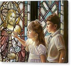 The Light Of Faith Acrylic Print by Sharon Lange