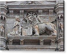 The Lion Of Saint Mark II Acrylic Print by Lee Dos Santos
