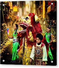 The Lion Tamers Acrylic Print by Chris Lord