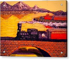 The Little Engine Acrylic Print by Larry Lamb