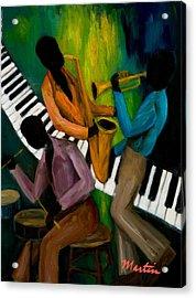 The Little Jazz Trio II Acrylic Print by Larry Martin