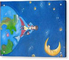 The Little Prince Acrylic Print by Yenni Castillo