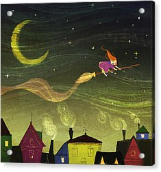 The Little Witch Acrylic Print by Kristina Vardazaryan