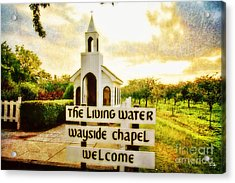 The Living Water Wayside Chapel Acrylic Print by Scott Pellegrin