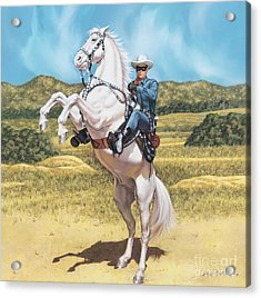 The Lone Ranger Acrylic Print by Dick Bobnick