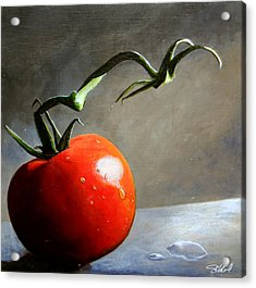 The Lone Tomato Acrylic Print by Steve Goad