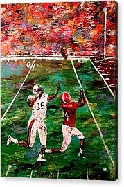 The Longest Yard - Alabama Vs Auburn Football Acrylic Print by Mark Moore