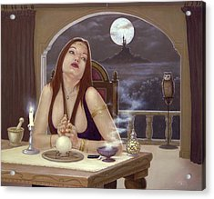 The Love Spell Acrylic Print by John Silver
