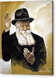 The Lubavitcher Rebbe Acrylic Print by Yael Avi-Yonah