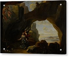 The Magdalen In A Cave Acrylic Print by Johannes Lingelbach