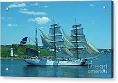 The Majestic Us Coast Guard Acrylic Print by John Malone