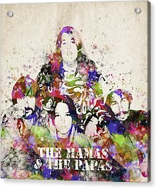 The Mamas And The Papas Acrylic Print by Aged Pixel