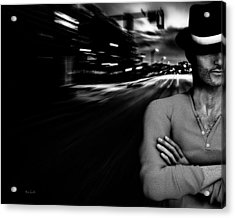 The Man In The Hat Returns Acrylic Print by Bob Orsillo