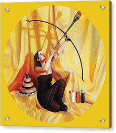 The Markswoman Acrylic Print by Shelley Irish