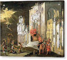 The Martyrdom Of St. Catherine, 17th Acrylic Print by Monsu Desiderio