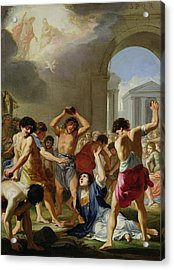 The Martyrdom Of St. Stephen, C.1623 Acrylic Print by Jacques Stella