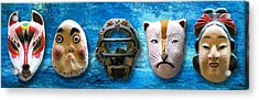 The Mask Collection Acrylic Print by Ron Regalado