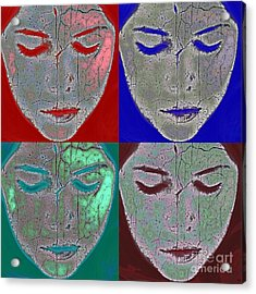 The Mask Acrylic Print by Stelios Kleanthous