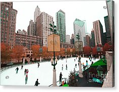 The Mccormick Tribune Ice Skating  Acrylic Print by Lynne Dohner