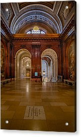 The Mcgraw Rotunda At The New York Public Library Acrylic Print by Susan Candelario