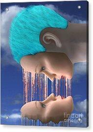 The Melding Acrylic Print by Keith Dillon