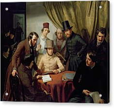 The Members Of The Hamburg Artist's Club Acrylic Print by Gunther Gensler
