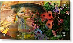 The Memory Of A Village Girl Acrylic Print by Fania Simon