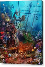 The Mermaids Treasure Acrylic Print by Aimee Stewart