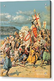 The Mighty King Of Chivalry Richard The Lionheart Acrylic Print by Fortunino Matania