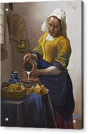 The Milkmaid Acrylic Print by Caroline  Stuhr