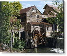 The Mill At Pigeon Forge Acrylic Print by Marla J McCormick