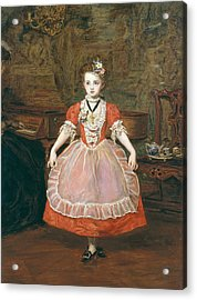 The Minuet  Acrylic Print by Sir John Everett Millais