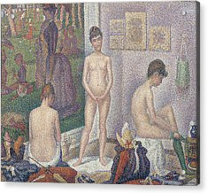The Models Acrylic Print by Georges Pierre Seurat