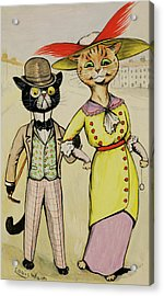 The Modern Arry And Arriet Acrylic Print by Louis Wain