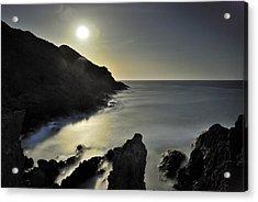 The Moon Acrylic Print by Guido Montanes Castillo