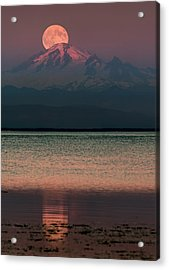 The Moon Over Mount Baker Acrylic Print by Alexis Birkill