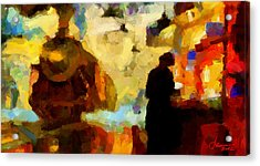 The Morning Train Tnm Acrylic Print by Vincent DiNovici