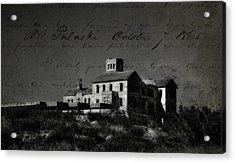 The Most Haunted House In Spain. Casa Encantada. Welcome To The Hell Acrylic Print by Jenny Rainbow