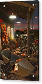 The Motorcycle Shop 2 Acrylic Print by Mike McGlothlen