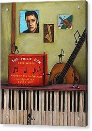 The Music Box Acrylic Print by Leah Saulnier The Painting Maniac