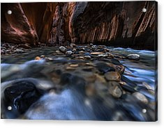 The Narrows At Zion National Park - 1 Acrylic Print by Larry Marshall